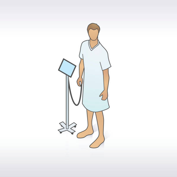 Royalty Free Hospital Gown Man Clip Art, Vector Images ...