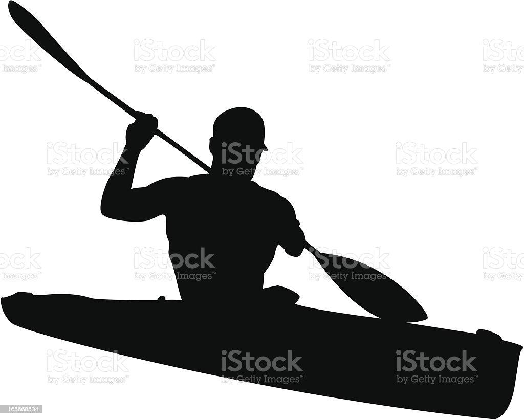 Man In Kayak Silhouette Royalty Free Stock Vector Art Amp
