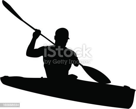 istock Man in Kayak Silhouette 165668534