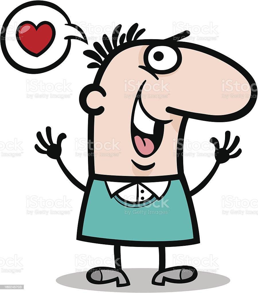 man in love cartoon illustration royalty-free stock vector art