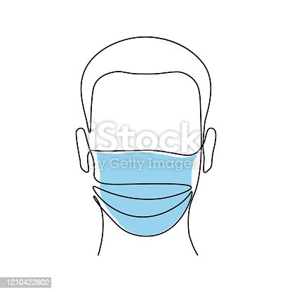 istock Man in medical mask 1210422602