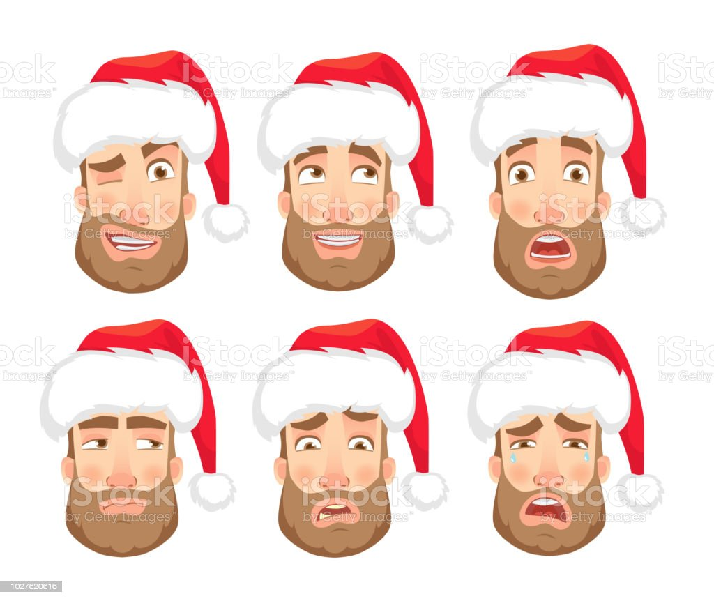 man-in-santa-claus-hat-human-emotions-se