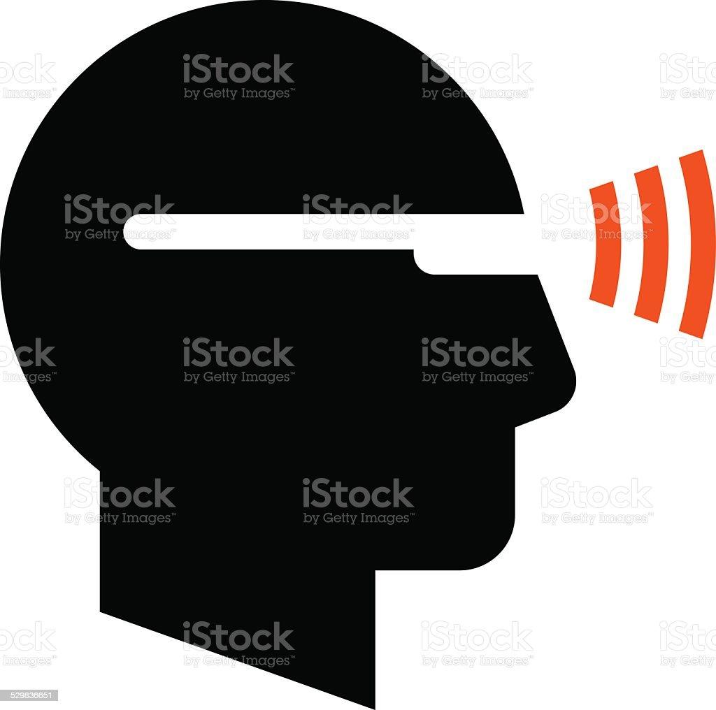 Man in smartglasses icon vector art illustration