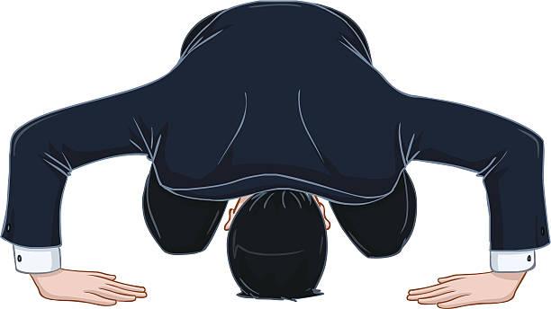 男性のリボンと apologises スーツ - お礼点のイラスト素材/クリップアート素材/マンガ素材/アイコン素材
