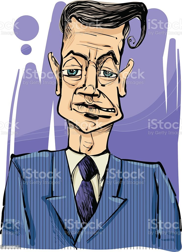 man in suit drawing illustration vector art illustration