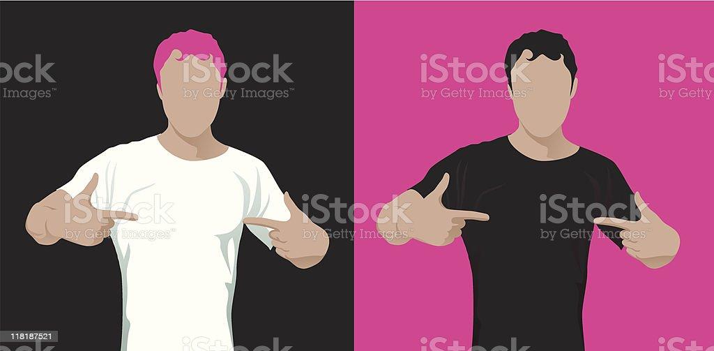 man in t-shirt royalty-free stock vector art