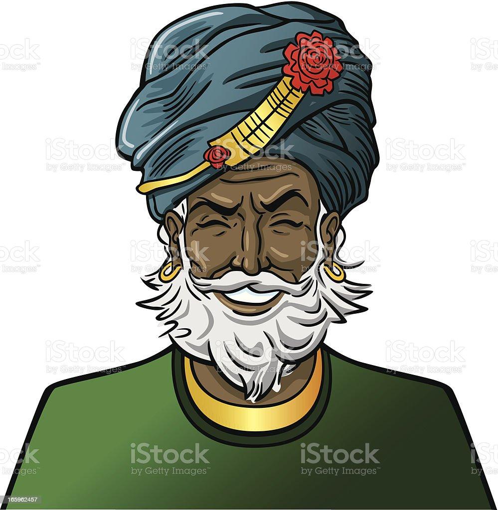Man in Turban royalty-free stock vector art