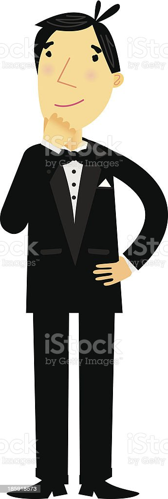 Man in Tuxedo royalty-free man in tuxedo stock vector art & more images of adult