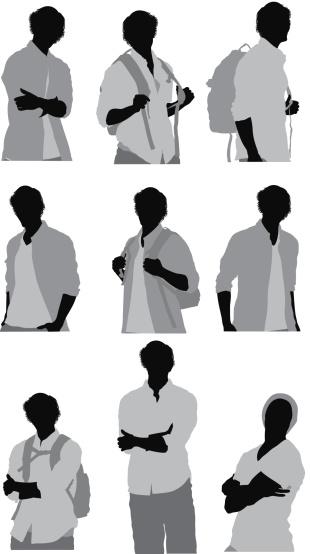 Man in various poses