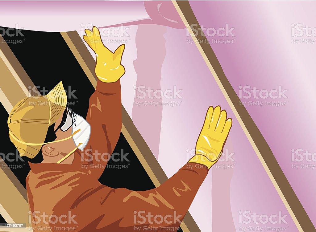 Man Insulation vector art illustration