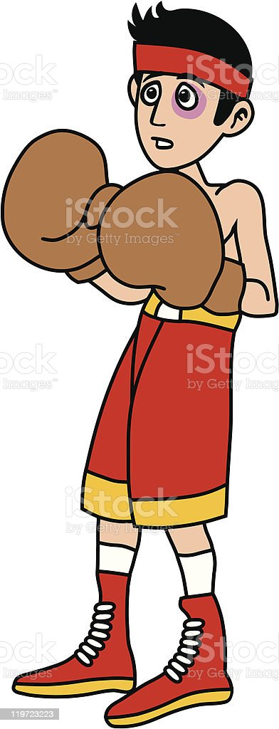 Man is boxing against stronger boxer cartoon vector illustration royalty-free man is boxing against stronger boxer cartoon vector illustration stock vector art & more images of adult