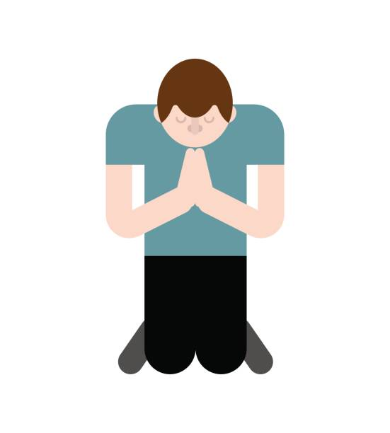 Royalty Free Pray Kneel Cartoon Clip Art, Vector Images ...