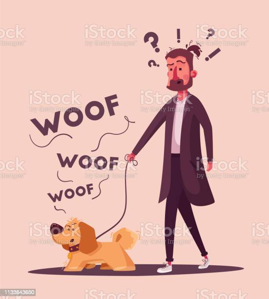Man is walking with a dog cartoon vector illustration dog walker vector id1133643650?b=1&k=6&m=1133643650&s=612x612&h=a b5pcrsnew ujq36jp0b8ifanrmk6dzpm1 s0nh4lc=