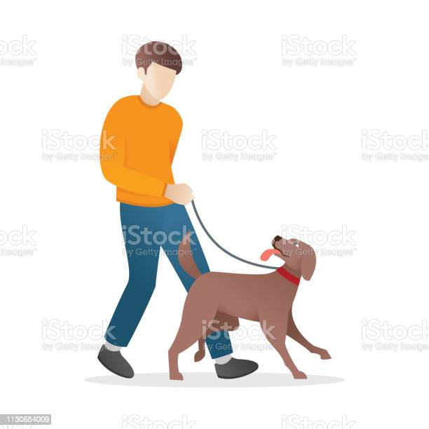 Man is walking with his dog vector id1130654009?b=1&k=6&m=1130654009&s=612x612&h=zhlqivbku9kgc4kqcpywvbbbd x2wylkg1y 9ojhrxw=