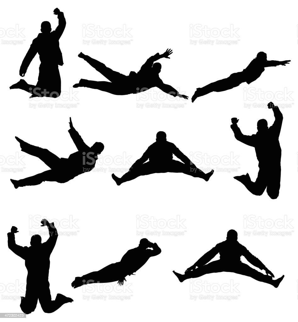 Man jumping vector art illustration