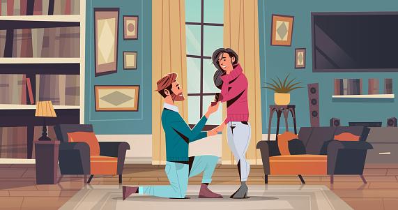 Engagement stock illustrations