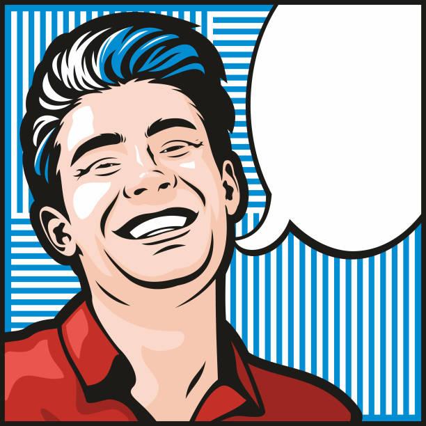 Man Laughing vector art illustration