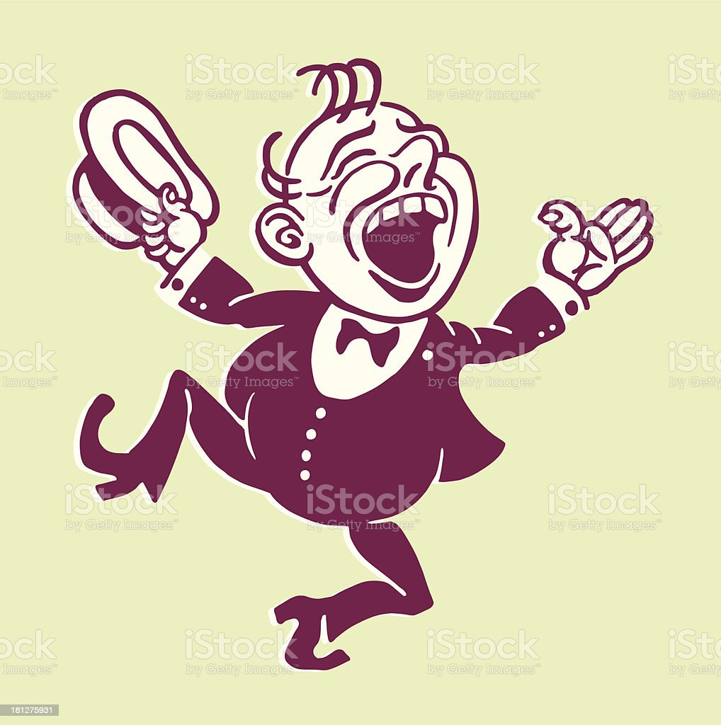 Man Laughing royalty-free stock vector art
