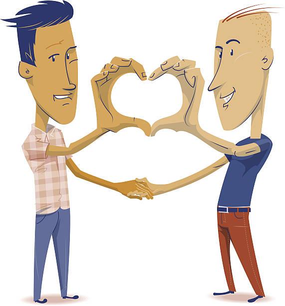 男性愛 - 同性カップル点のイラスト素材/クリップアート素材/マンガ素材/アイコン素材