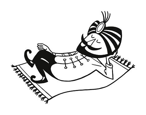 Man Lying on a Magic Carpet