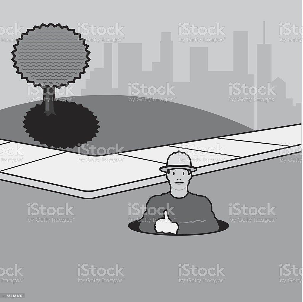 Man Manhole royalty-free stock vector art