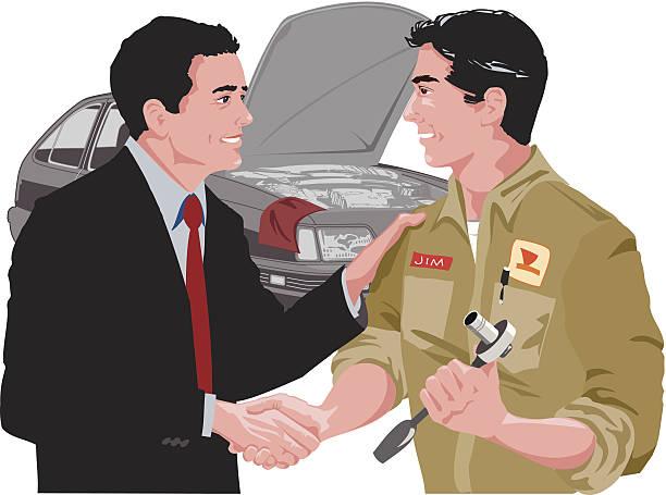 ilustrações de stock, clip art, desenhos animados e ícones de homem mecânico de carro c - da cintura para cima
