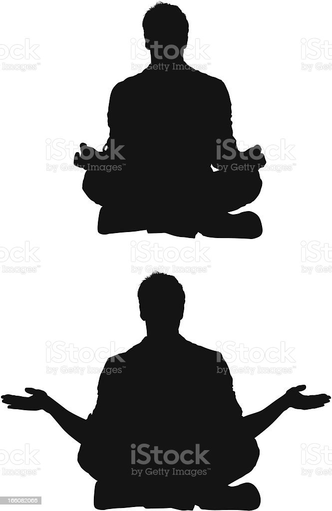Man meditating royalty-free stock vector art