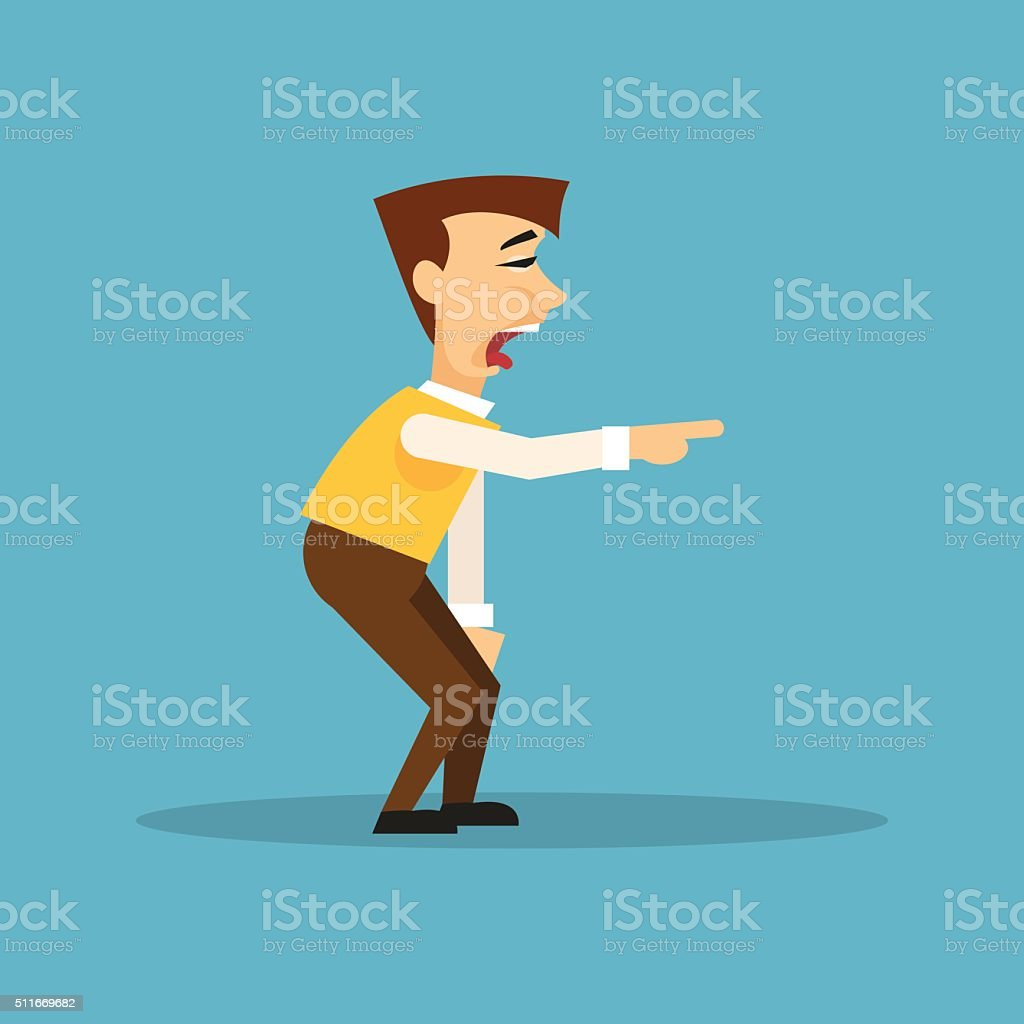 Man mocking someone. Vector illustration vector art illustration