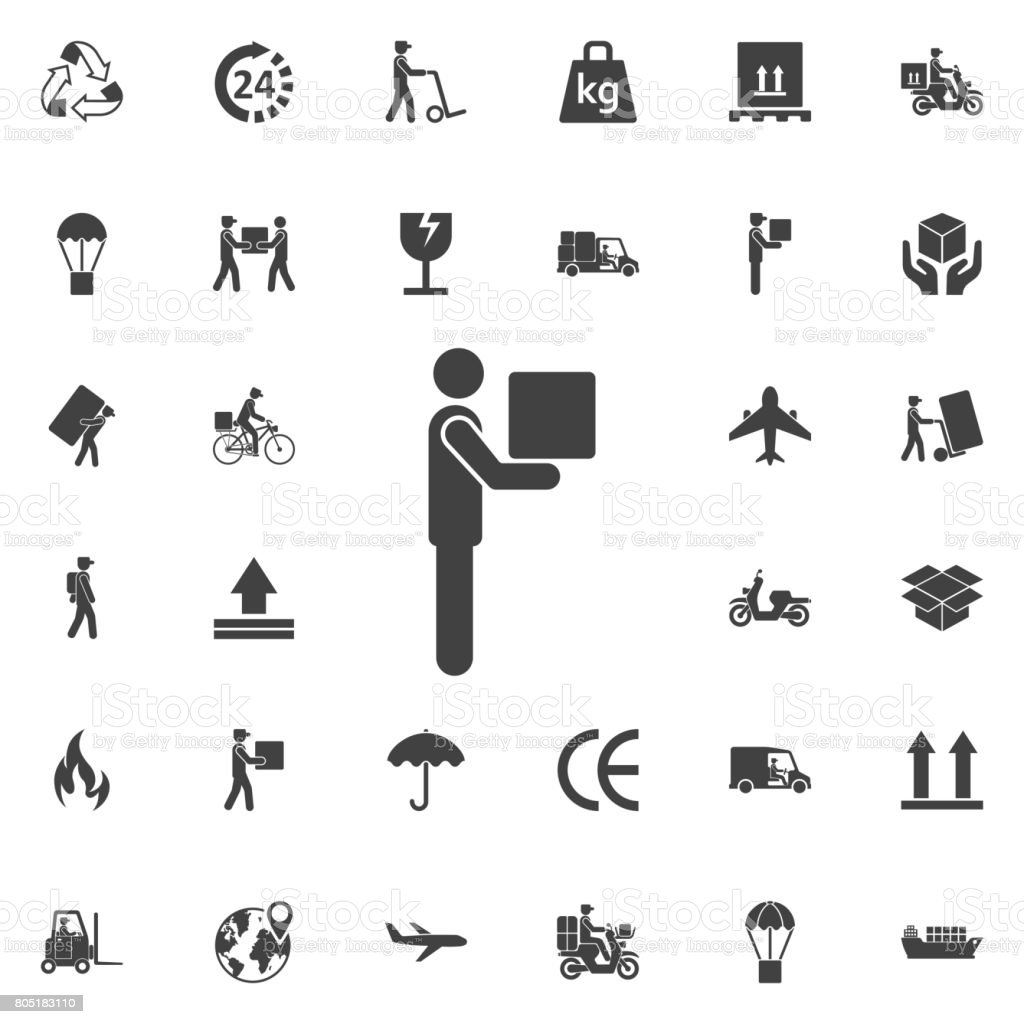 Ilustración de Hombre Movimiento Cuadro Pictograma Icono y más banco ...