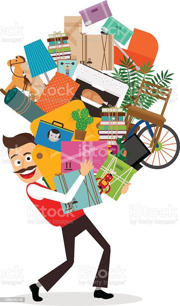 Man moving illustration vector art illustration