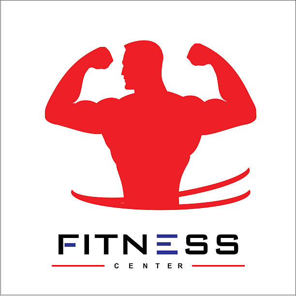 man of fitness silhouette character vector design template vector art illustration