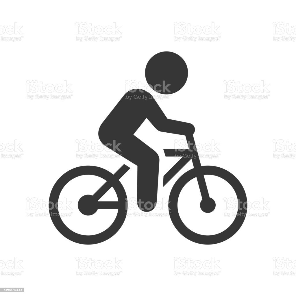 Man on Bicycle Icon man on bicycle icon - stockowe grafiki wektorowe i więcej obrazów bicykl royalty-free