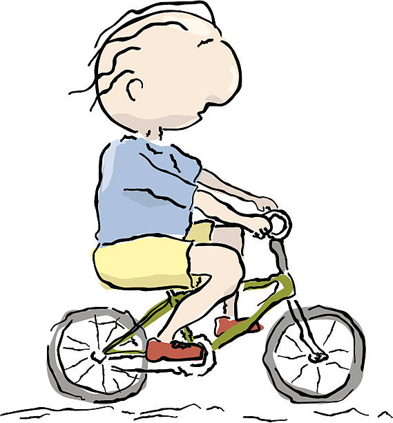 man on bike - old man on bike stock illustrations, clip art, cartoons, & icons