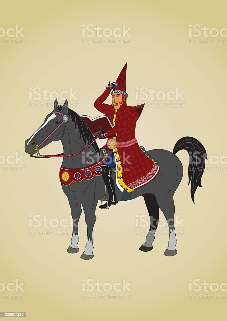 Man On Horse Stock Illustration Download Image Now Istock