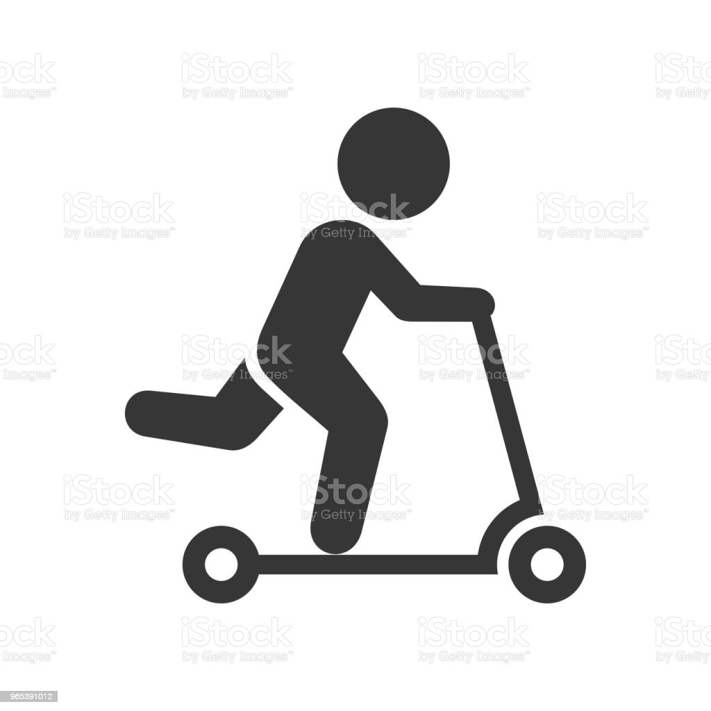 Man on Kick Scooter Icon royalty-free man on kick scooter icon stock vector art & more images of art