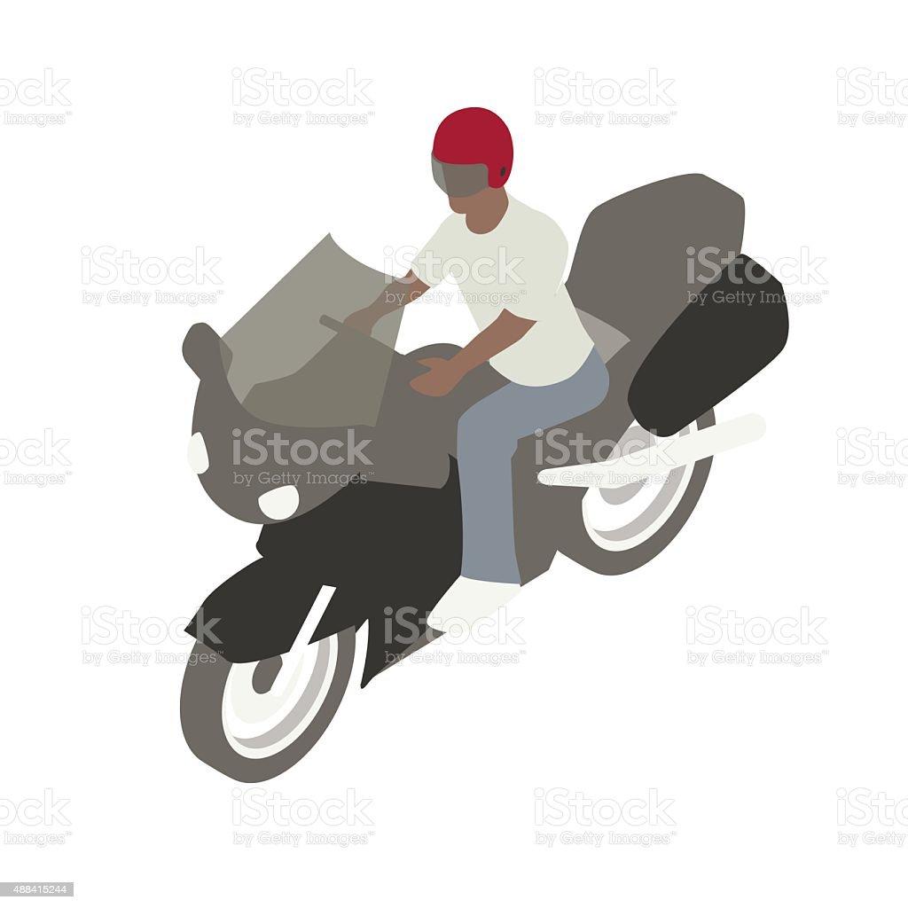 Man on motorcycle illustration vector art illustration
