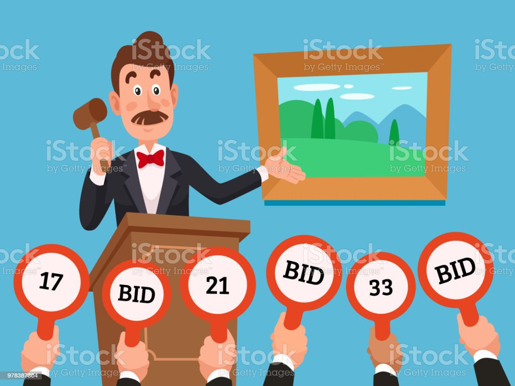 best auction illustrations  royalty
