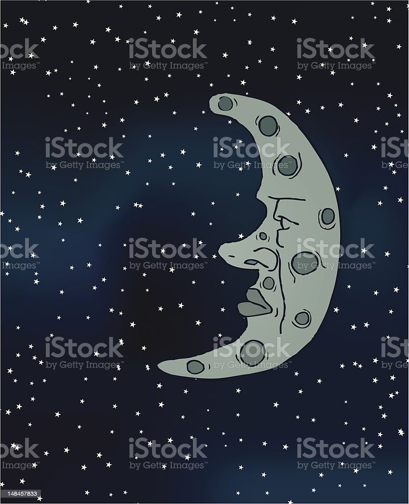 Man on the Moon royalty-free man on the moon stock vector art & more images of bizarre