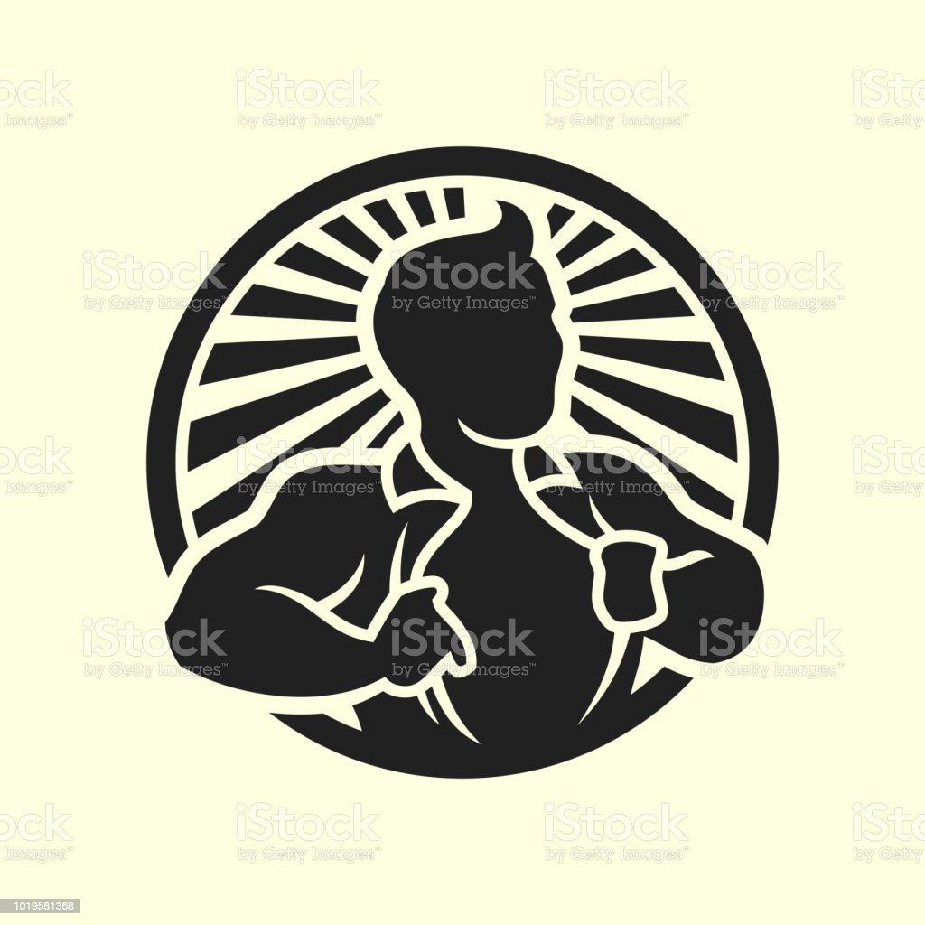 Homme son icône chemise de silhouette vecteur d'ouverture - Illustration vectorielle