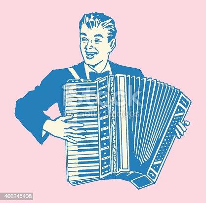 istock Man Playing Accordion 466245408