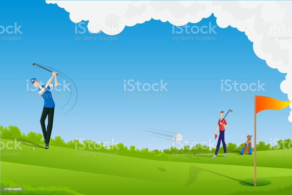 Man playing Golf royalty-free stock vector art