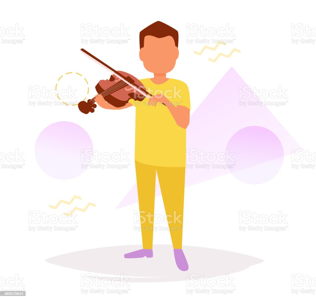 Man playing the violin Vector royalty-free man playing the violin vector stock vector art & more images of adult