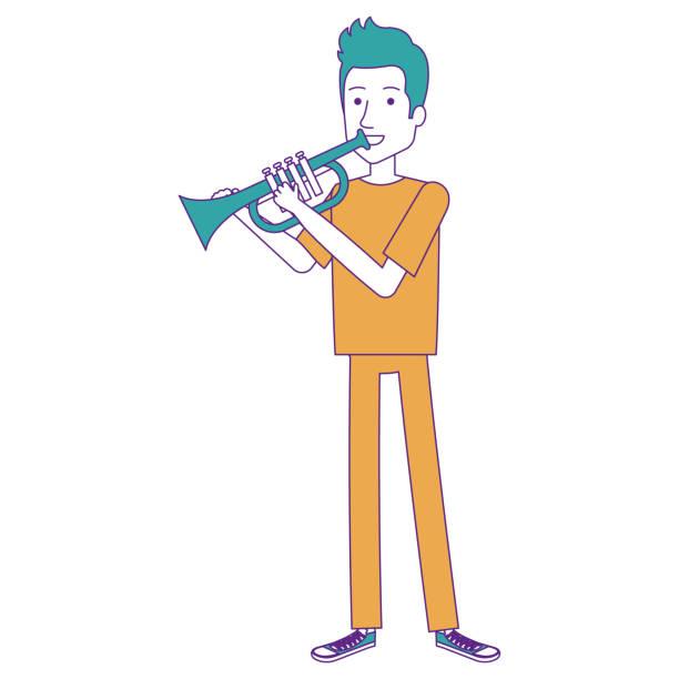 illustrazioni stock, clip art, cartoni animati e icone di tendenza di man playing trump character - trump