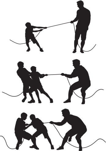 Man playing tug-of-war with childrenhttp://www.twodozendesign.info/i/1.png