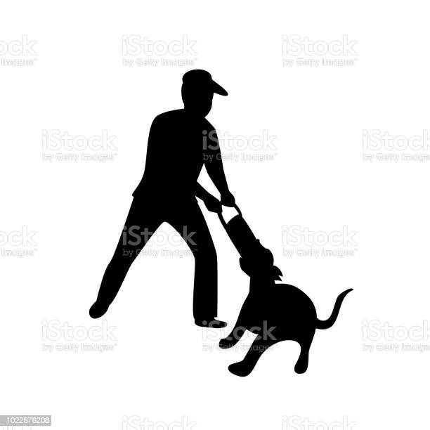 Man playing with his dog tugging game silhouette isolated vector vector id1022676208?b=1&k=6&m=1022676208&s=612x612&h=pwy1xvqdjxlto3qy0z93ebzcnkywmmv7jhgmzwjbar8=