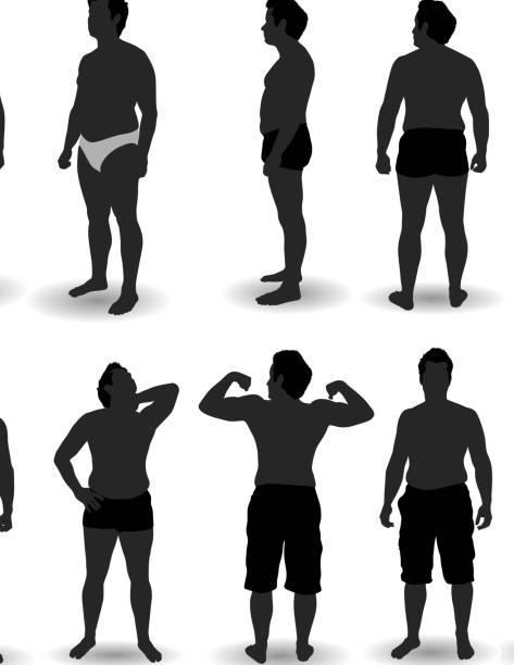 illustrations, cliparts, dessins animés et icônes de homme pose en sous-vêtements - homme slip