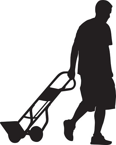 Man Pulling Cart