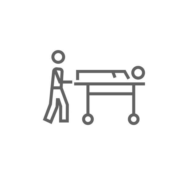 patient transportation stock illustrations