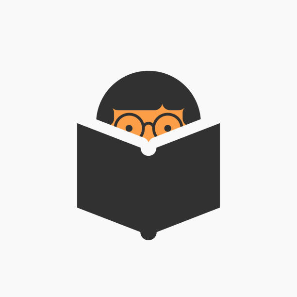 man reading a book icon - homework stock illustrations