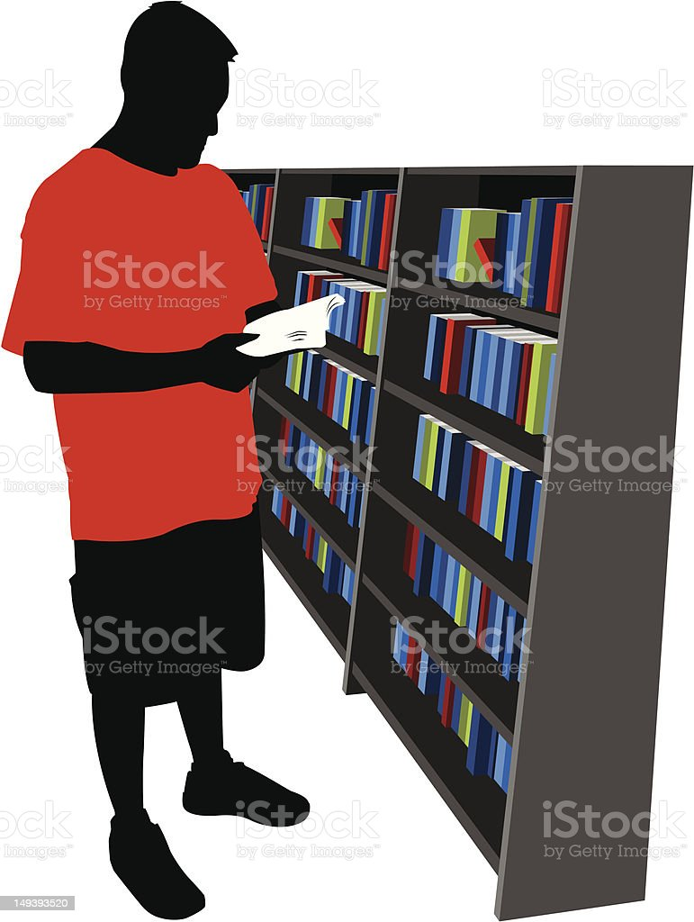 Man Reading a Book royalty-free man reading a book stock vector art & more images of adult